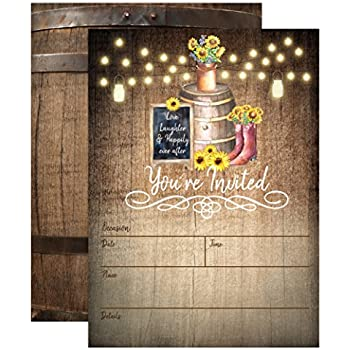 Country Rustic Sunflower Invitations Elegant Invites For Wedding Rehearsal Dinner Bridal