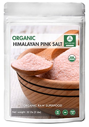 100% Natural & Healthy Himalayan Pink Salt (2lb) by Naturevibe Botanicals, Gluten-Free & Non-GMO (32 ounces) (Fine - Cooking Size) - Natures Sea Calcium