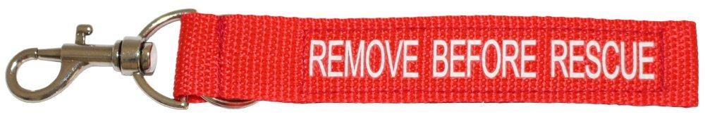 """tee-uu REMOVE Anhänger """"REMOVE BEFORE RESCUE"""" (21 x 3, 5cm) perfekt für die Atemschutzüberwachung! 2955-1502"""