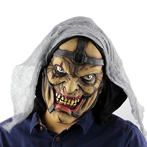 Balai Halloween Mask for Festival Cosplay Halloween Costume Party Props Masks Horror Mask - Latex Walking Dead Mask Clown Head Mask Vampire Zombie Mask Scared Ghost Head Costume Decorations