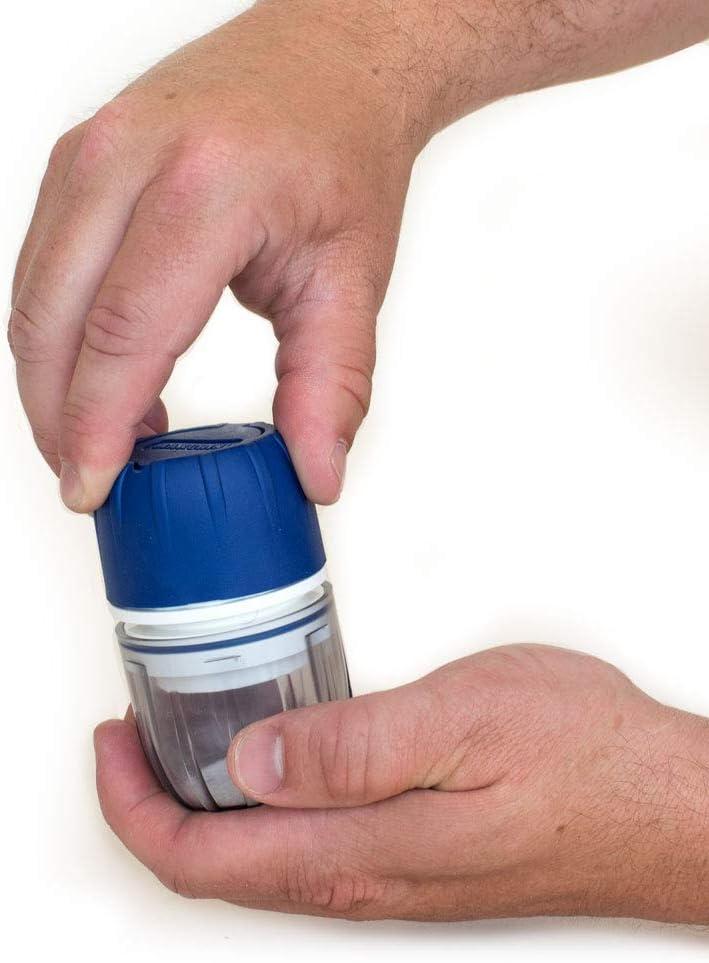 MAXGRIND™ Pill Crusher and Grinder (Red) Cutter Splitter Powder Medicine Pulverizer: Health & Personal Care