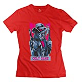 PCY Women's Personalized Colt Game Trendy Tees Red