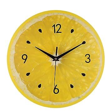 WSEB Wanduhr Runde Digitale Wanduhren-Wohnzimmer-Form-Hängende Uhr ...