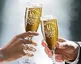 Mr Mrs Wedding Reception Celebration Twisty Stem