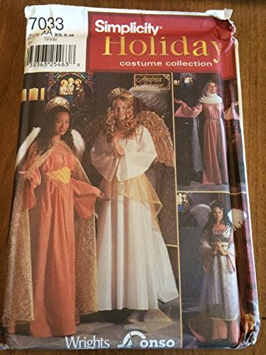 Amazon.com: Simplicity 7033 Sewing Pattern, Misses\' Angel Costume ...