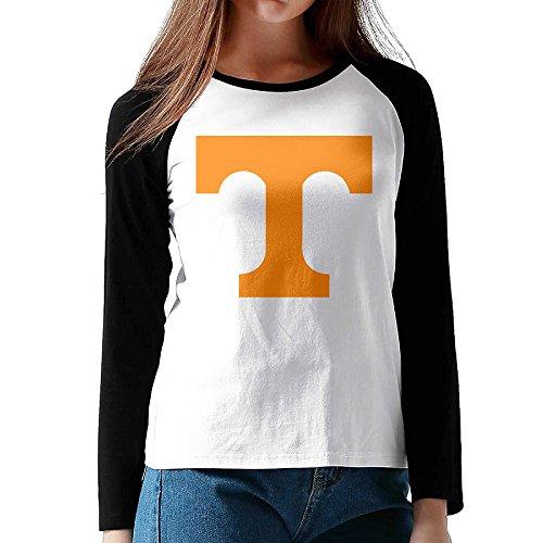 Ahey Woman's Raglan University Of Tennessee Volunteers Logo Casual T-shirts Black M]()