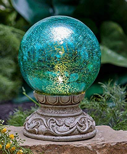 The Lakeside Collection Solar Gazing Ball (Balls Solar Garden)