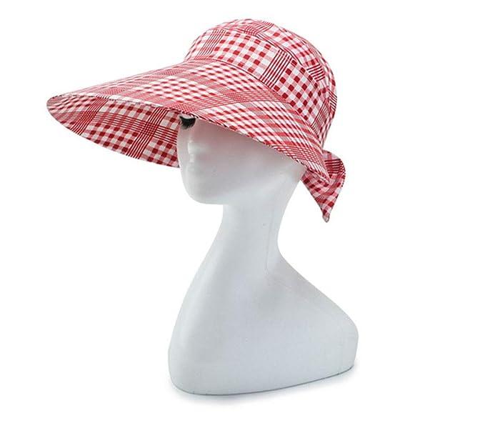 Sun Visor Hats for Women Girl Wide Brim Ponytail Sun Hat UV ... ad8cc114b8d