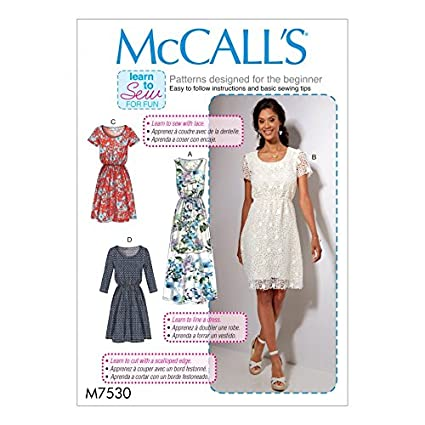 Amazon com: McCalls Ladies Easy Learn to Sew Sewing Pattern