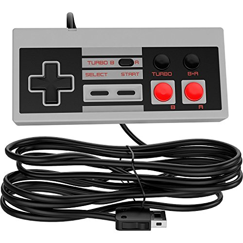 Ortz 10ft Controller for NES Classic Mini [TURBO EDITION] Buttons - Classic Edition Console - Best Wired Controller Gamepad For Nintendo Gaming System [Works with Wii - Game Best Video Controller