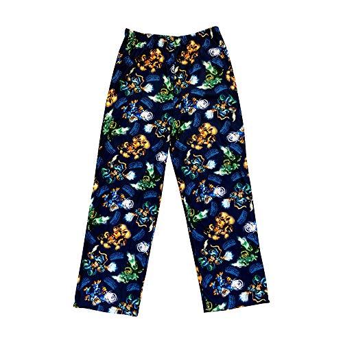 Skylanders Jet-VAC, WASH Buckler, and Blast Zone SWAP Forces Boys Soft Flannel Pajama Pants Royal Blue -