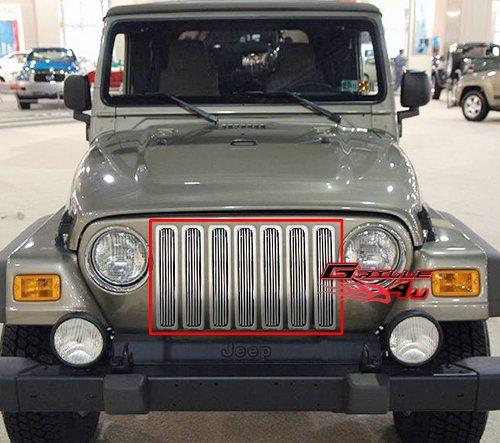 97-06 Jeep Wrangler Vertical Billet Grille Grill Insert #J85490V Jeep Billet Grill