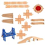 Best kid turntable - 13 Pieces Wooden Railway Train Track Expansion Set Review