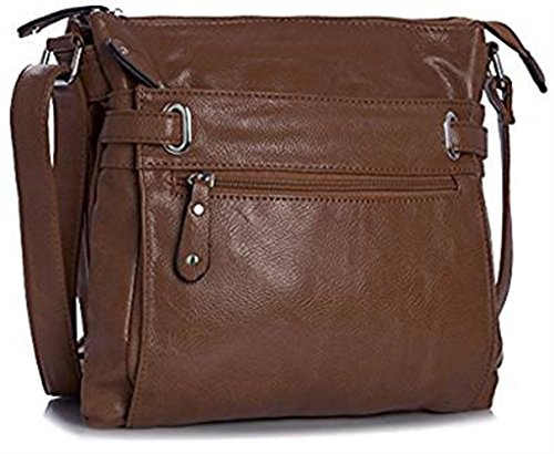 Multi Pocket Medium Messenger Bags Womens Cross Dark Brown Body special Design ZaqAf