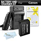 Battery And Charger Kit For Canon EOS SL1 DSLR, EOS-M, EOS M, EOS M10 Mirrorless Digital Camera Includes Extended Replacement (1150Mah) For Canon LP-E12 Battery + Ac/Dc Rapid Travel Charger + More