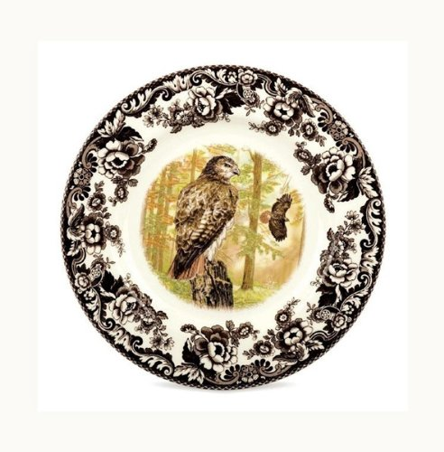 Spode Woodland Salad Plate(s) - Red Tailed Hawk Spode - Earthenware