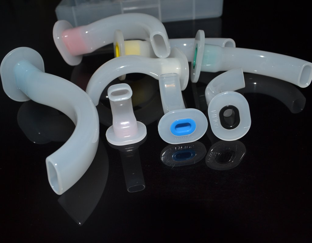 ELYSAID 8 Pieces/set Plastic Case Gas Guide Tube Disposable Oral Airway Tube for First Aid Airway Kit With Plastic Case