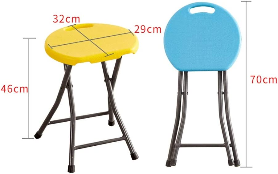 Folding Chair, Simple Portable Thick Plastic, Suitable For Parties, Events, Etc. (color : Green) Yellow