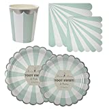 Calisea Matchy Matchy Party Set for 16, Toot Sweet Aqua