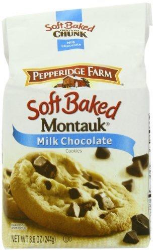 (Pepperidge Farm Soft Baked Cookies, Montauk Milk Chocolate, 8.6-ounce (pack of 5) by Pepperidge Farm)