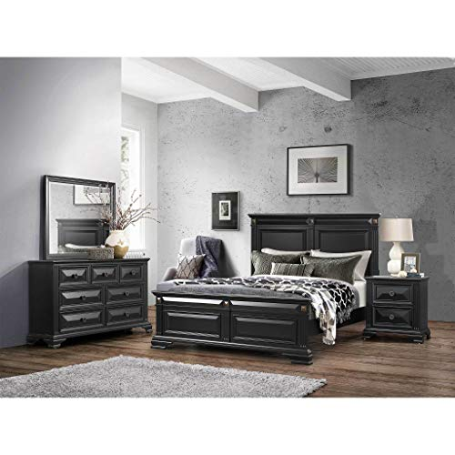 Global Furniture USA Carter Bedroom Set 5-Piece, Includes Inside Delivery with Assembly to Room of Choice (Eastern King)