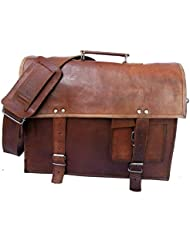 Gbag (T) 16 Vintage Leather Briefcase, Leather Shoulder Messenger Bag Laptop