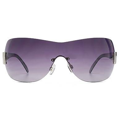 57e61c2b5bfe Karen Millen Rimless Visor Sunglasses in Black Tortoiseshell KML208   Amazon.co.uk  Clothing