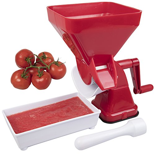 Tomato Food Strainer and Sauce Maker- Juicer Food Mill for Easy Purees- No Coring, Peeling or Deseeding