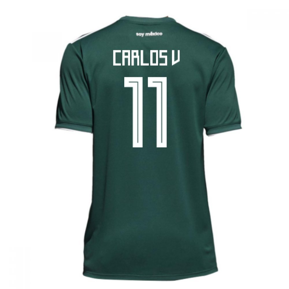 2018-19 Mexico Home Shirt (Carlos V 11) B079P15Z6YGreen Small 36-38\