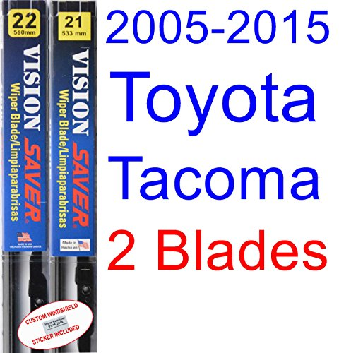 2005-2015 Toyota Tacoma Replacement Wiper Blade Set/Kit (Set of 2 Blades) (Saver Automotive Products-Vision Saver) (Jeep Grand Cherokee Windshield Wiper)
