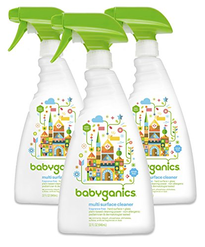 Babyganics Multi Surface Cleaner, sans, parfum vaporisateur 32 oz (Pack de 3)