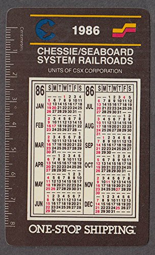 (Chessie / Seaboard System Railroads pocket calendar 1986)