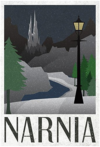 Narnia Retro Travel Poster with Hanger