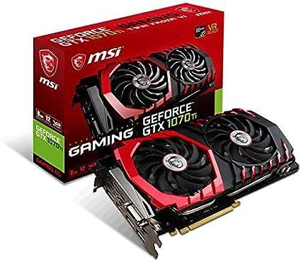 MSI Gaming GeForce GTX 1070 Ti 8GB GDRR5 256-bit HDCP Support DirectX 12 SLI Twin Frozr Heat Pipes Dual TORX 2.0 Fan VR Ready Graphics Card (GTX 1070 ...