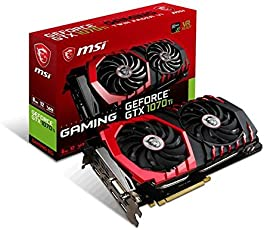 MSI GTX 1070 TI Gaming 8G GeForce GTX 1070 Ti 8GB GDDR5 - Tarjeta Gráfica (GeForce GTX 1070 Ti, 8 GB, GDDR5, 256 bit, 8008 MHz, PCI Express x16 3.0)