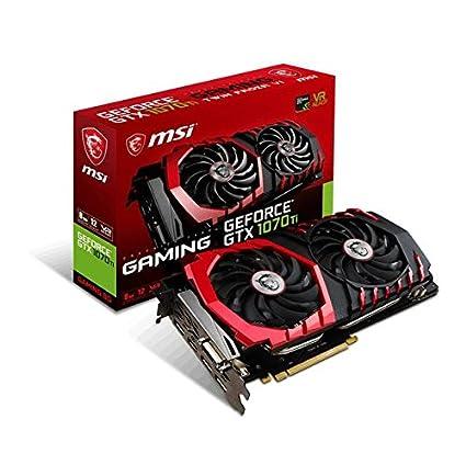 MSI Gaming GeForce GTX 1070 Ti 8GB GDRR5 256-bit HDCP Support DirectX 12  SLI Twin Frozr Heat Pipes Dual TORX 2 0 Fan VR Ready Graphics Card (GTX  1070