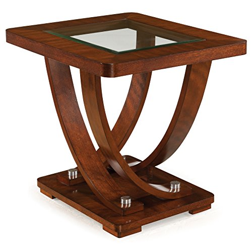 Magnussen T2908-03 T2908 Pavilion Contemporary Medium Brown Rectangular End Table