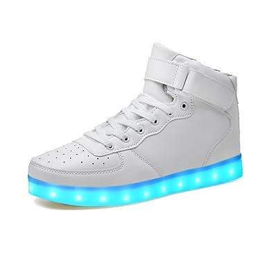 lekuni LED Shoes 2017 Upgraded Light Up System 7 Colors Light Up Low Top  Trainner for c36d2033d5