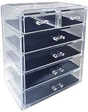صندوق صندوق تخزين أدراج لتخزين مستحضرات التجميل من الأكريليك من سودي، مجموعة من ثلاث قطع 4L2S 1