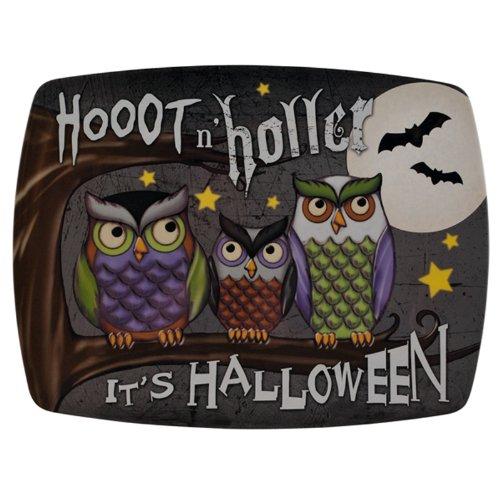 Grasslands Road Midnight Owl Melamine Rectangular Tray Halloween
