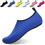 Quickshark Women's Men's Water Shoes Summer Quick-Dry Barefoot Aqua Socks for Beach Pool Swim Surf Yoga (US Men:14-15=EU 48/49, Blue)