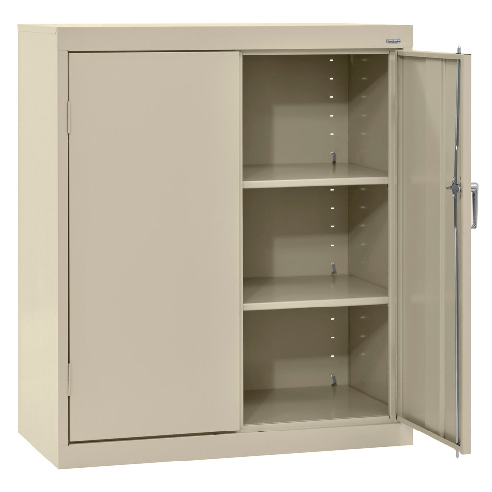 SANDUSKY LEE CA21361842-07 Classic Series Counter Height Cabinet with Adjustable Shelves, Steel, 42'' Height, 36'' Width, 18'' Length, Putty