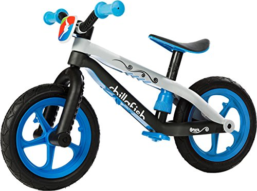 Best Prices! Chillafish BMXie-RS: BMX Balance Bike with Airless RubberSkin Tires, Blue (Motion of th...
