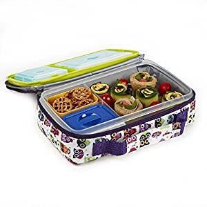 bento lunch kit with insulated carry bag home kitchen. Black Bedroom Furniture Sets. Home Design Ideas