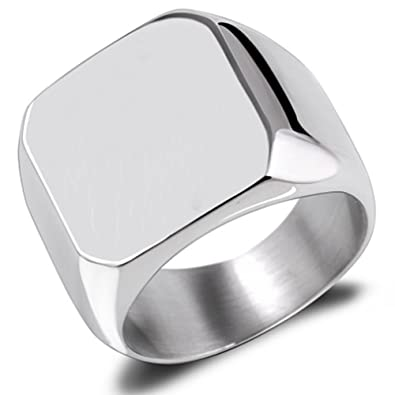 Amazon.com: Van Unico - Anillo de acero inoxidable para ...
