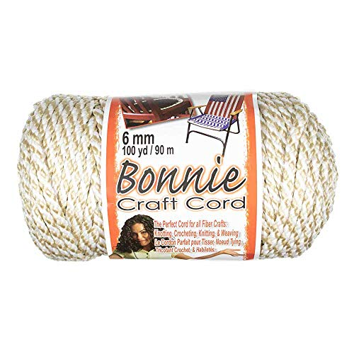 Craft County Bonnie Cord - 6mm Diameter - 100 Yards in Length (Oatmeal)