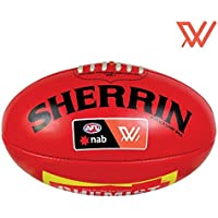 Official Sherrin AFLW Size 4 PVC Replica Game Ball Red