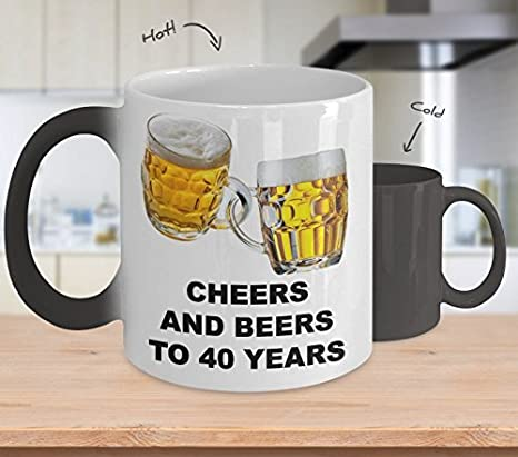 Amazon.com: Cheers y cervezas a 40 años – divertido regalo ...