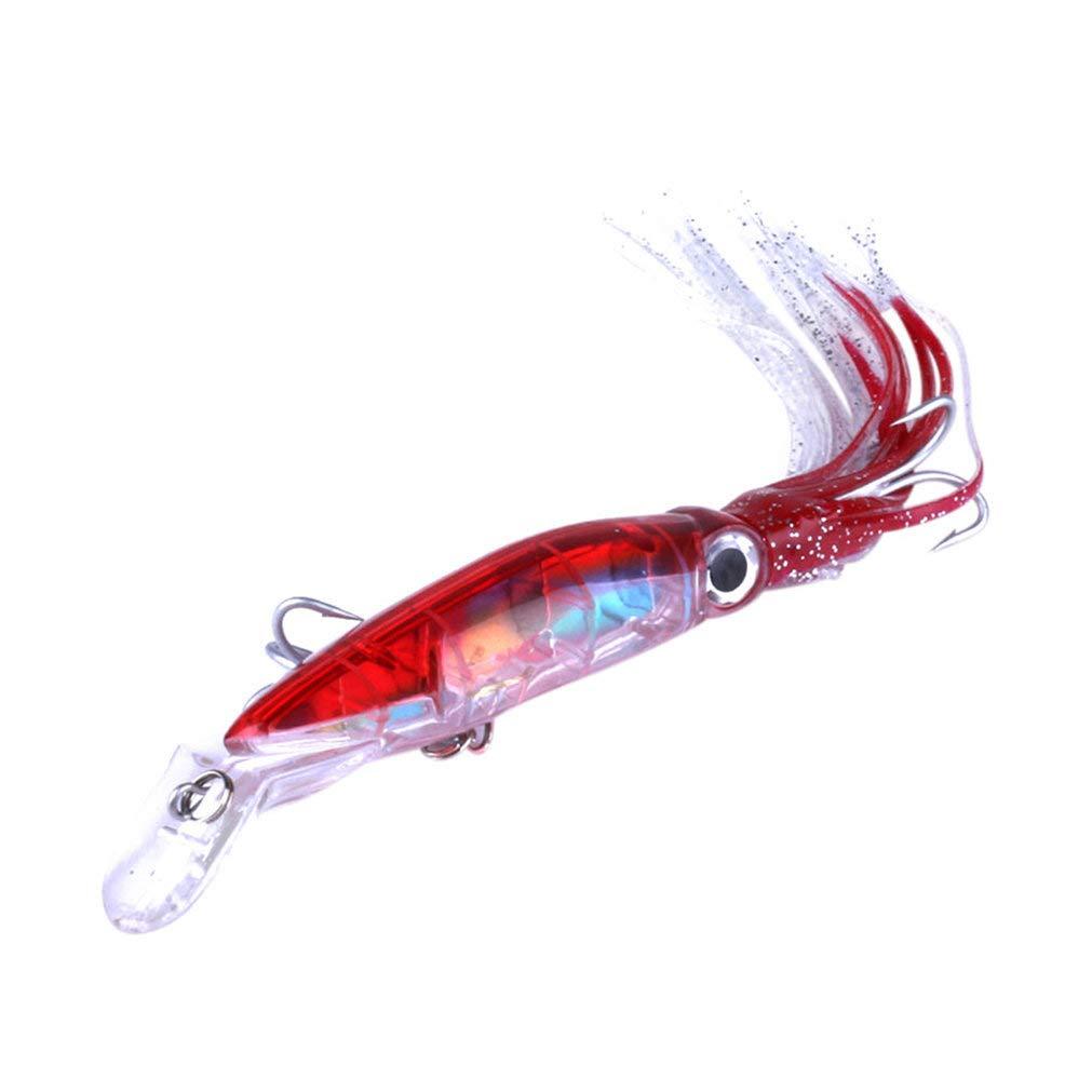 gzzebo Pl/ástico port/átil Colorido Simulaci/ón Artificial Pulpo Forma Pesca Se/ñuelo Cebo Herramienta de Pesca