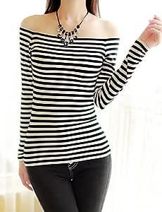XH@G De las mujeres Camiseta - Espalda al Aire Escote ...